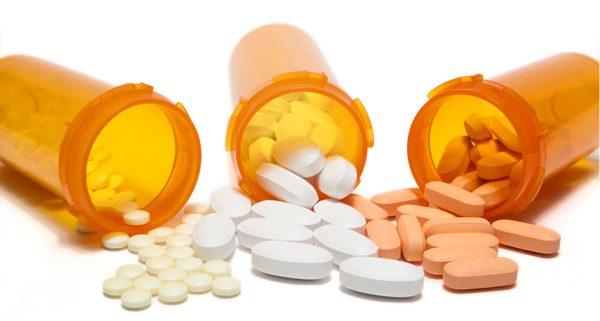 Antibiotics in container