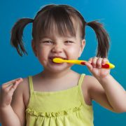 Little Girl with a toothbrush